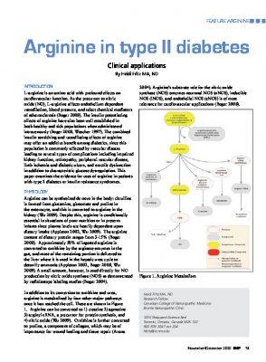 Arginine and diabetes