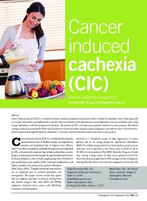 Cancer induced cachexia