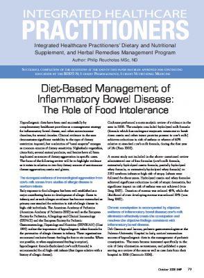 Diet and inflammatory bowel disease
