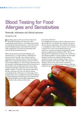 Food sensitivity testing