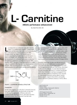 L-carnitine and performance enhancement