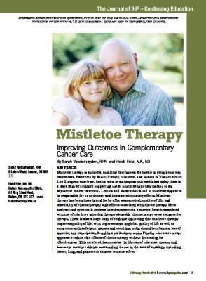 Mistletoe therapy