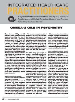 Omega-3 and mental health