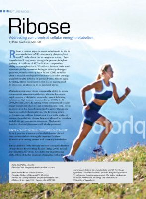 Ribose and heart disease
