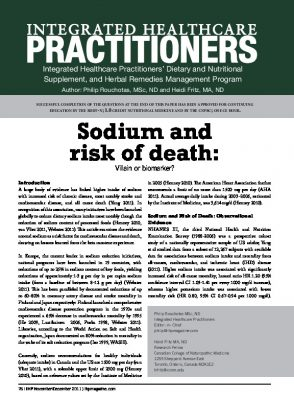 Sodium and disease risk